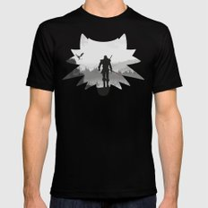 The white wolf Black Mens Fitted Tee SMALL
