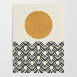 Sun & Wave - Oriental Pattern Poster
