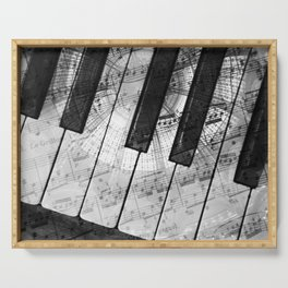 Piano Keys black and white Serving Tray