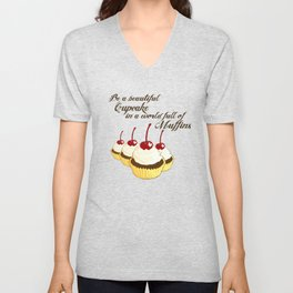 Inspirational Cupcakes Unisex V-Neck