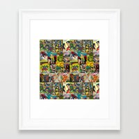 comic Framed Art Prints featuring COMIC by Vickn