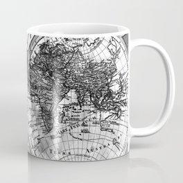 Black and White World Map (1775) Coffee Mug