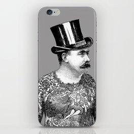 Tattooed Victorian Man iPhone Skin