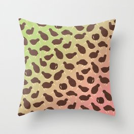 Cuddly Kiwis Throw Pillow
