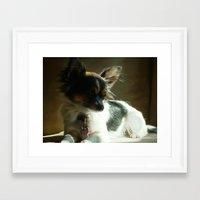 tina crespo Framed Art Prints featuring Tina  by ErinElise