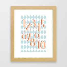 Counting Poster Framed Art Print