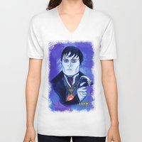 johnny depp V-neck T-shirts featuring Barnabas Collins - Johnny Depp by Jonboistars