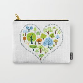 Protect the Forests: Love Trees Carry-All Pouch