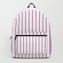 Princess Pink Pinstripe on White Backpack