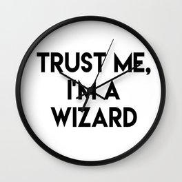 Trust me I'm a wizard Wall Clock