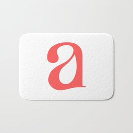 lowercase a Bath Mat
