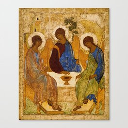 Holy Trinity Icon Byzantine Orthodox Rublev Gift for Priest Religious Artwork Canvas Print