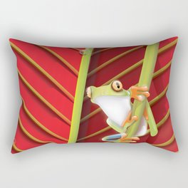 Colombia Frog travel poster. Rectangular Pillow