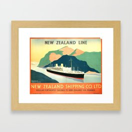 New Zealand Line Framed Art Print