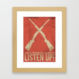 Boomstick Framed Art Print