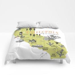 California Map Comforters