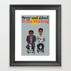 Troy And Abed In the Morning Framed Art Print