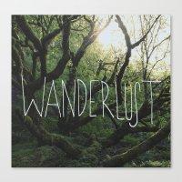 wanderlust Canvas Prints featuring Wanderlust by Leah Flores
