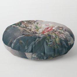 Skull in moonlight Floor Pillow