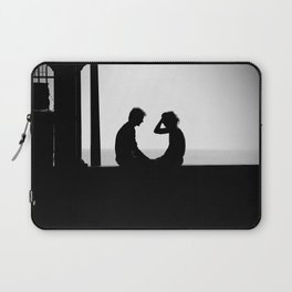 Love is... Black and white street photography Laptop Sleeve