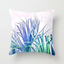 Pastel Palms Throw Pillow