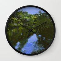 turkey Wall Clocks featuring Turkey Creek by Roger Wedegis