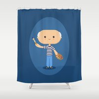 picasso Shower Curtains featuring Pablo Picasso by Sombras Blancas Art & Design