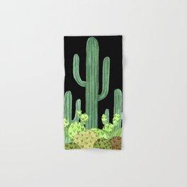 Night Desert Prickly Cactus Bunch Hand & Bath Towel