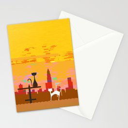Black Cat, White Cat Stationery Cards