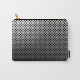 Metal Dotted Silver Carry-All Pouch