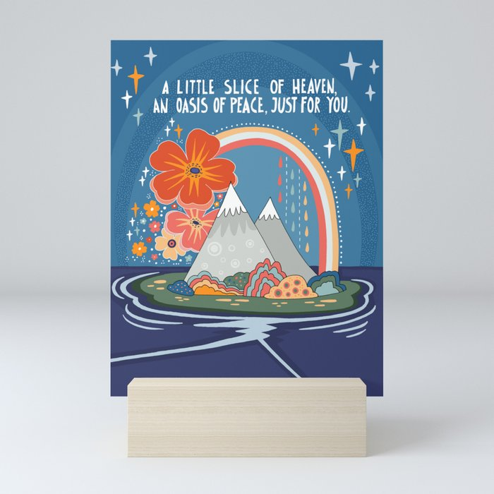 A little slice of heaven Mini Art Print