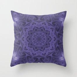 Vintage Design in Purple Throw Pillow