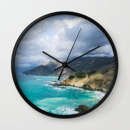 Parting Clouds in Big Sur Wall Clock