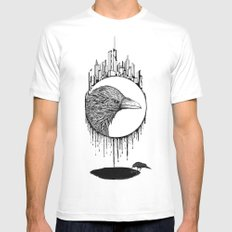 Scavenger MEDIUM White Mens Fitted Tee
