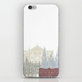 Santiago de Compostela skyline poster iPhone Skin
