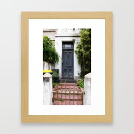 Blue Door. Framed Art Print