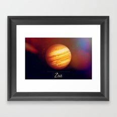 Zeus Jupiter Framed Art Print