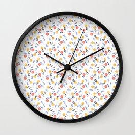 Playfull flowers Wall Clock