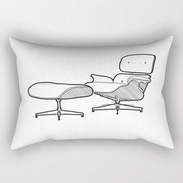 Mid-century - Eames Lounge Chair Sketch (B) Rectangular Pillow