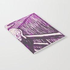 The Scream's Haze (purple) Notebook