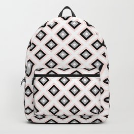 Blush Pink Diamond Pattern   Luxury   For Her   Bedroom   Art Deco Backpack