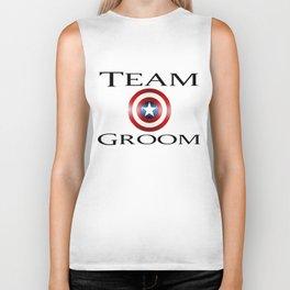 Capt America Team Groom Biker Tank