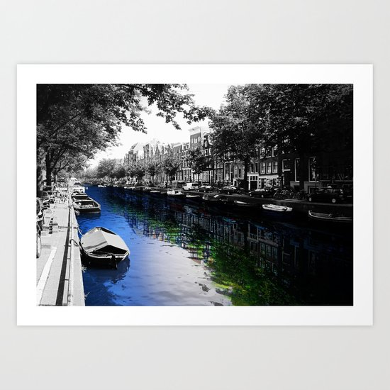 Amsterdam Colorsplash Art Print