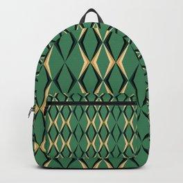 Art Deco Green & Gold Backpack