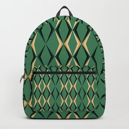 Art Deco Green & Gold Backpack