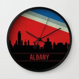 Albany Skyline Wall Clock