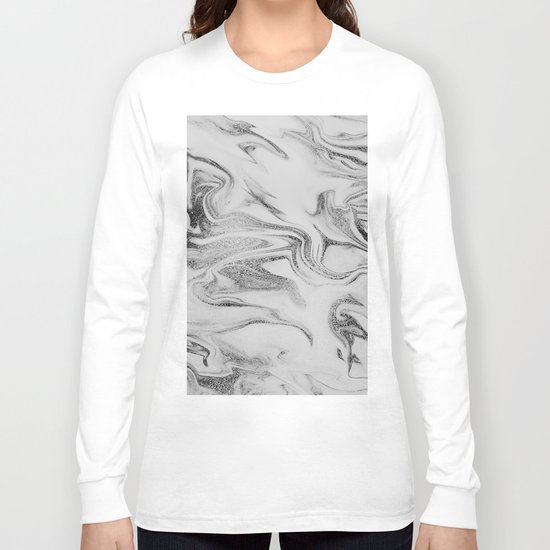 Spilled Ink Marble Long Sleeve T-shirt