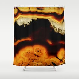 Fire Agate Shower Curtain