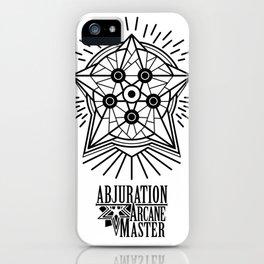 Abjuration arcane master iPhone Case