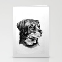 rottweiler Stationery Cards featuring Rottweiler Devotion by Patricia Howitt